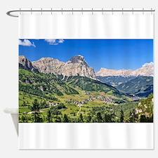 Dolomiti - Val Badia Shower Curtain