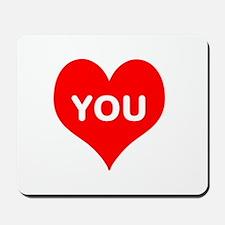 I Love You iheart u Mousepad