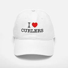 I Love CURLERS Baseball Baseball Cap