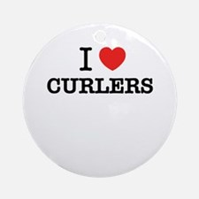 I Love CURLERS Round Ornament