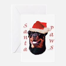 Santa Paws Rottweiler Greeting Card