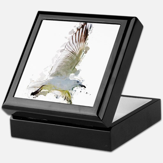 fLYING sEAGULL aCRYLIC sPLATTER Keepsake Box