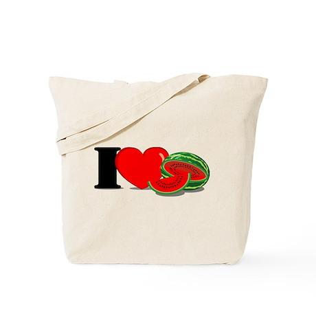 I Love Watermelon Tote Bag