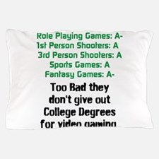 Gaming Report Card Pillow Case