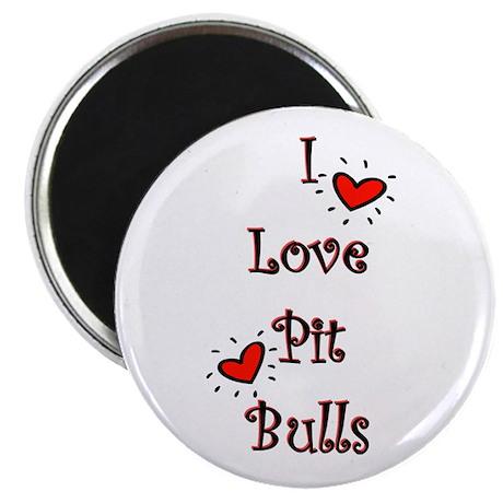 I Love Pit Bulls Magnet