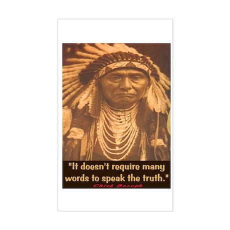 SPEAK THE TRUTH Rectangle Sticker