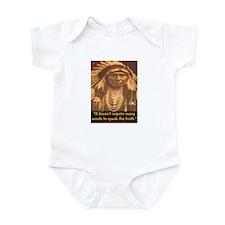 SPEAK THE TRUTH Infant Bodysuit