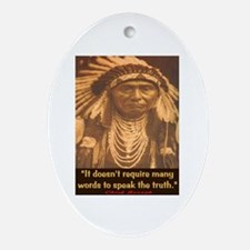 SPEAK THE TRUTH Oval Ornament
