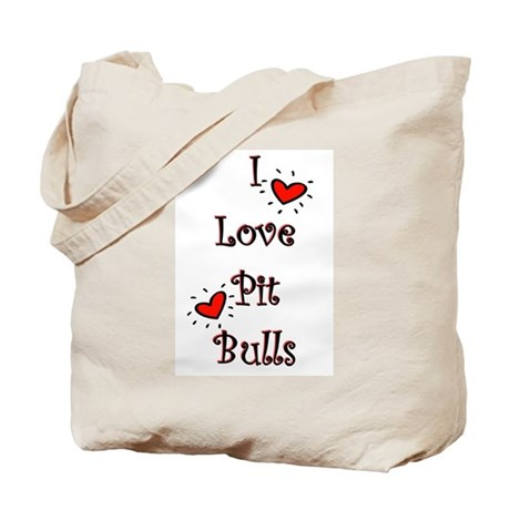 I Love Pit Bulls Tote Bag