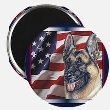 German Shepherd Dog Patriotic USA Flag Magnet