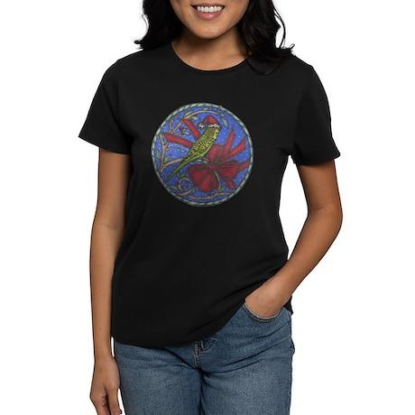 Christmas Budgie Women's Dark T-Shirt