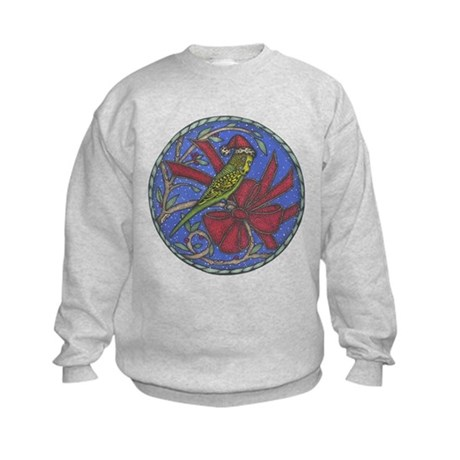 Christmas Budgie Kids Sweatshirt