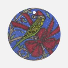 Christmas Budgie Ornament (Round)