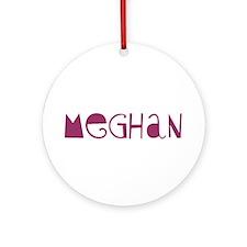 Meghan Ornament (Round)