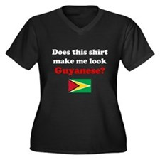 Make Me Look Guyanese Women's Plus Size V-Neck Dar
