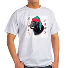 Santa Paws black Newf T-Shirt