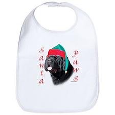 Santa Paws black Newf Bib