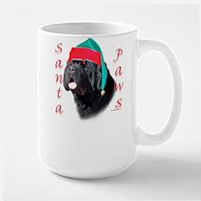 Santa Paws black Newf Mug