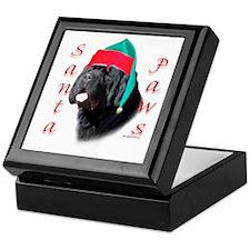 Santa Paws black Newf Keepsake Box