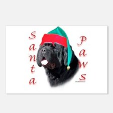 Santa Paws black Newf Postcards (Package of 8)