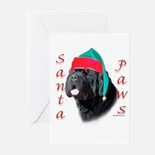 Santa Paws black Newf Greeting Cards (Pk of 20)