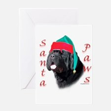 Santa Paws black Newf Greeting Card