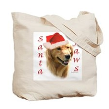 Santa Paws black Newf Tote Bag