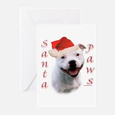 Santa Paws Bull Terrier Greeting Cards (Pk of 20)