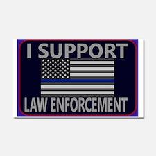 I support law enforcement Car Magnet 20 x 12