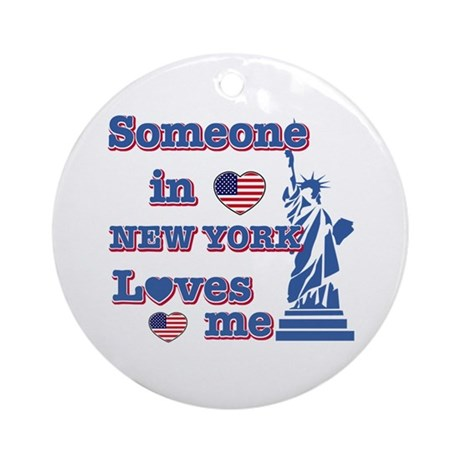 Someone in Newyork Loves me Ornament (Round)