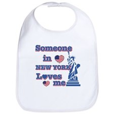 Someone in Newyork Loves me Bib