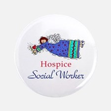 """Hospice SW Angel 3.5"""" Button"""