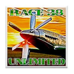 Precious Metal Race 38 Tile Coaster