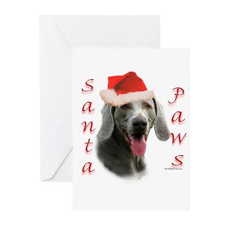 Santa Paws Weimaraner Greeting Cards (Pk of 20)