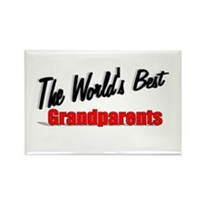 """The World's Best Grandparents"" Rectangle Magnet"