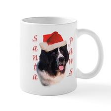 Santa Paws landseer Newf Mug