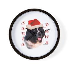 Santa Paws landseer Newf Wall Clock