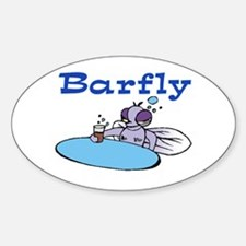 BARFLY Oval Decal