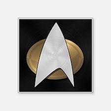 """STARTREK TNG METAL 5 Square Sticker 3"""" x 3"""""""