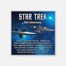"50TH FINAL FRONTIER Square Sticker 3"" x 3"""