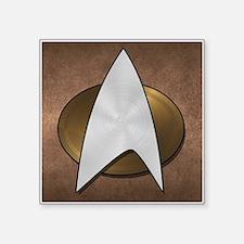 """STARTREK TNG METAL 3 Square Sticker 3"""" x 3"""""""