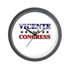 VICENTE for congress Wall Clock