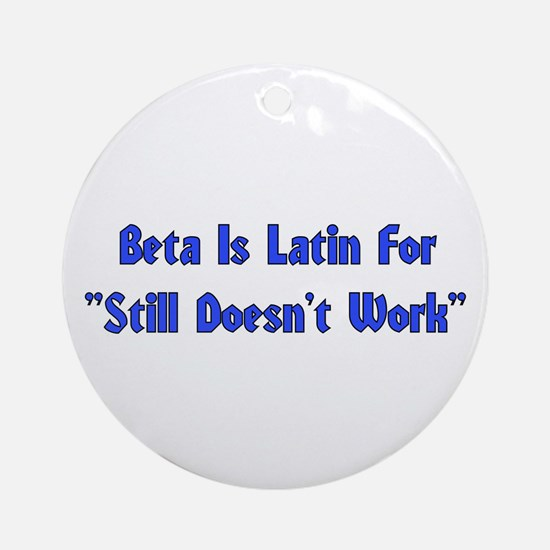 Beta is Latin Ornament (Round)