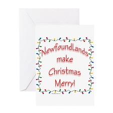 Merry Newfoundland Greeting Card