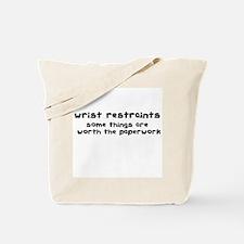 Wrist Restraints Tote Bag