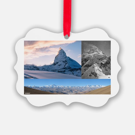 Everest,K2 and Matterhorn Summits Ornament