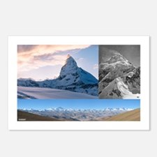 Everest,K2 and Matterhorn Summits Postcards (Packa