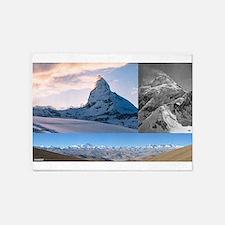 Everest,K2 and Matterhorn Summits 5'x7'Area Rug