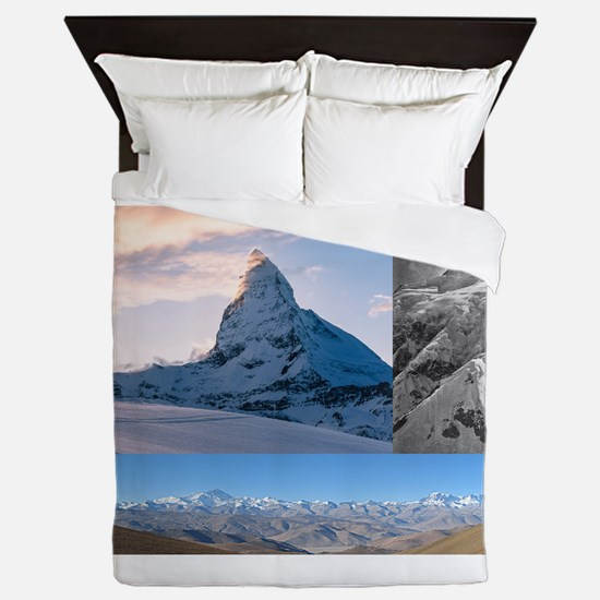 Everest,K2 and Matterhorn Summits Queen Duvet
