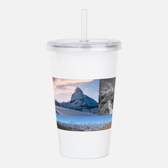 Everest,K2 and Matterhorn Summits Acrylic Double-w